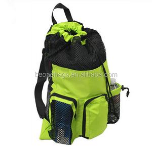 Swim Mesh Staff Sack Drawstring Backpack Sport Mesh Bag