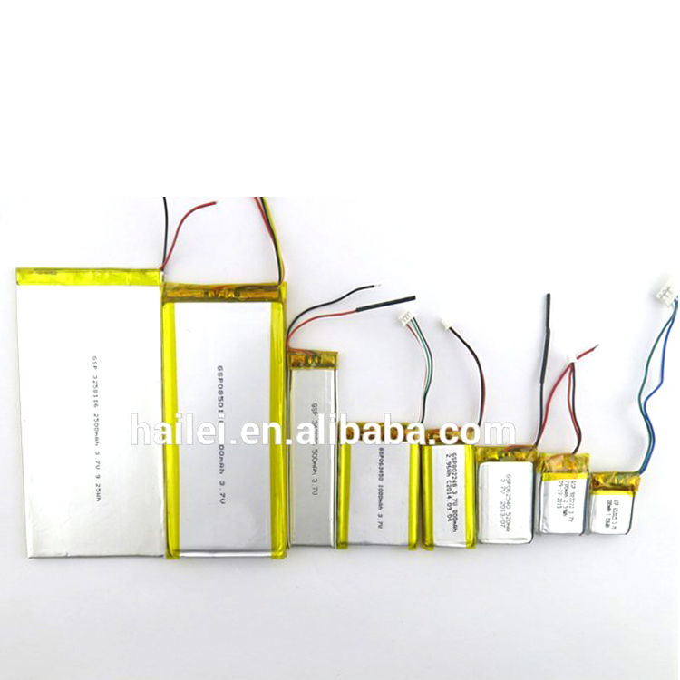 3.7v li-ion 50mAh Li-polymer battery for cash counter