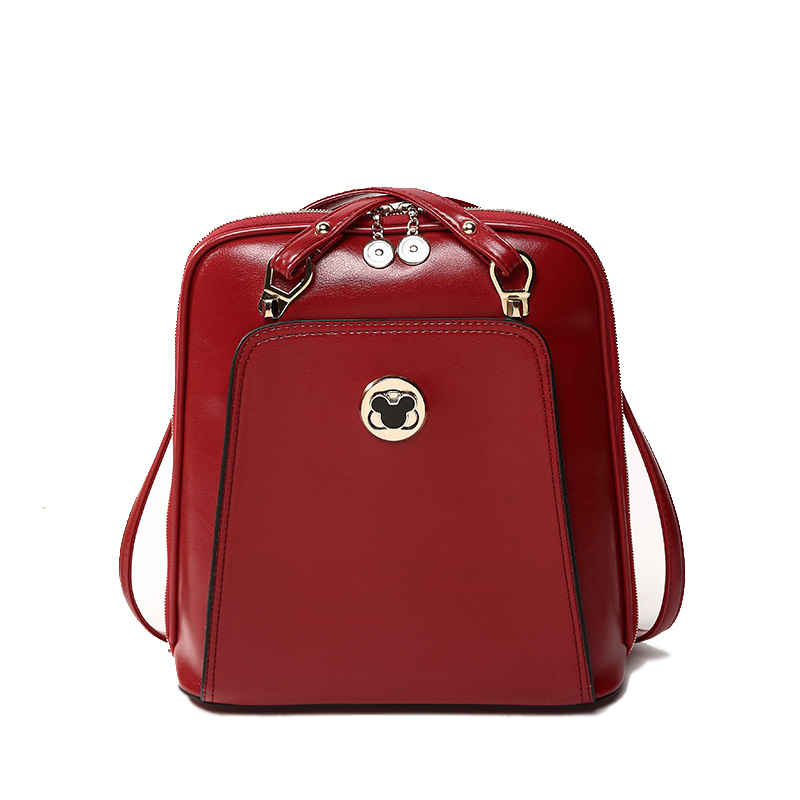 Bolsa de ombro saco solid black leather bags 2015 new European style  elegant backpack women backpacks with a lock hot sale BB202 b4e07d76cb7ff