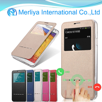 TPU +PC Slim Flip Window View Leather Smart Case Cover For Samsung S3 S4 S5 Note 3 4