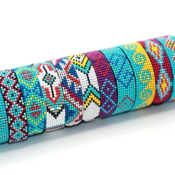 China Factory Price Bead Bracelet Patterns Woven Seed Tel Friendship Jewelry Bohemia For Women