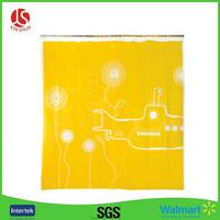 wholesale plain color bath films sets PEVA shower curtains