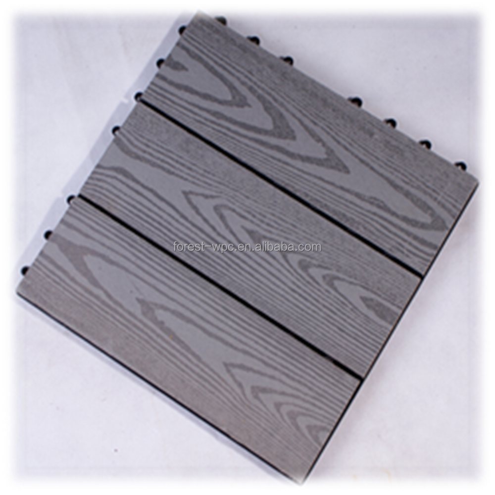 Chinese Oak Decking Recycled Rubber