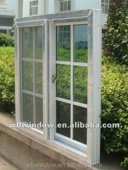 Foshan Upvc Sliding Window With Mosquito Net,Upvc White Color ...