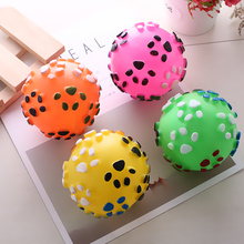New product paw print lovely pet fetching ball thrower, pet toy ball for dog
