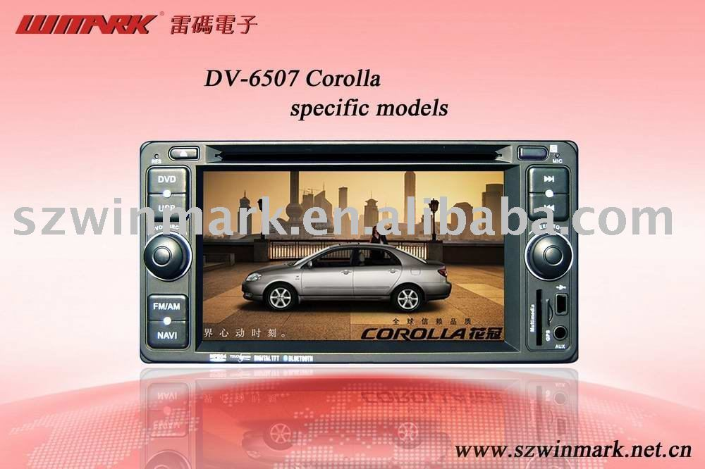 DV-6514 6.2'' in dash car dvd player with GPS, iPod,USB/SD,LCD car TV monitor for Corolla special model