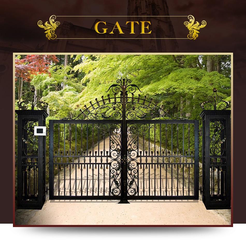 Top manufacturer classical design garden gate iron