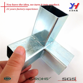 Galvanized Steel Square Tube Connection For Fastener - Buy Square Tube  Connection,Tube Connection For Fastener,Galvanized Steel Square Tube  Connection
