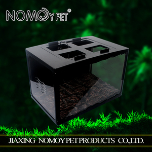 Nomo high-end top quality easy assemble acrylic pet cage snake carrier