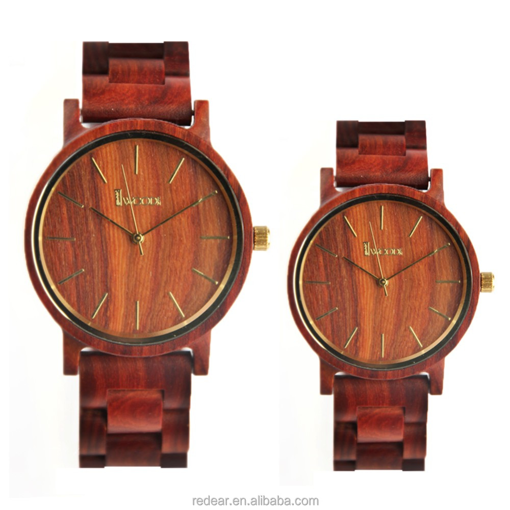 7dc1bea1b اليدوية مخصص كلاسيكي زوجين الساعات مع حركة الكوارتز الساعات الخشبية ...