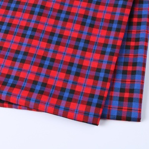 China popular textile stock gingham check cotton plaid printed fabric shirt