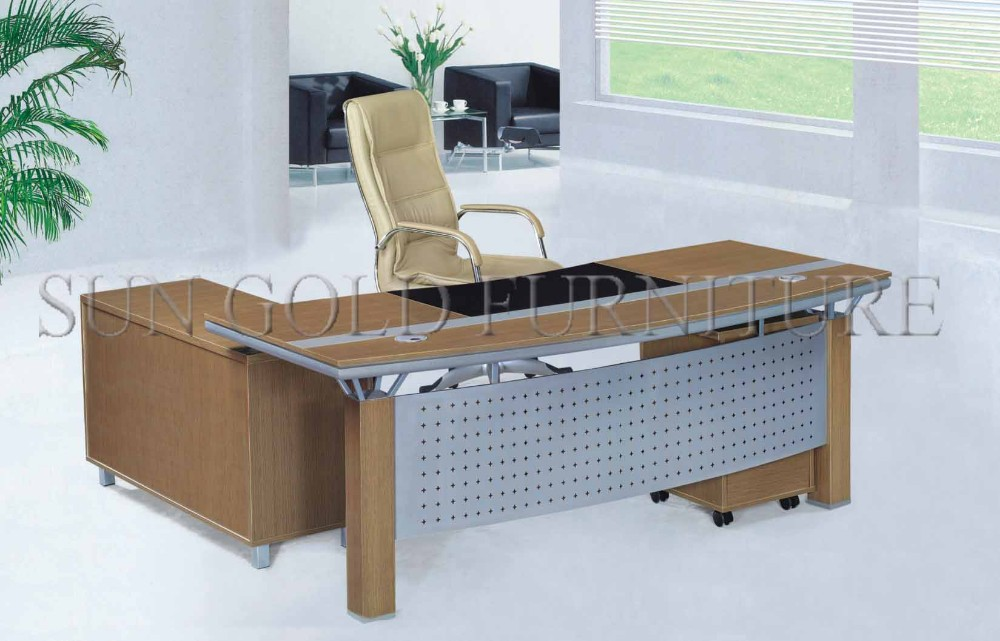 Modern Office Italian Table Modular Design Melamine Director Desk Sz Od360
