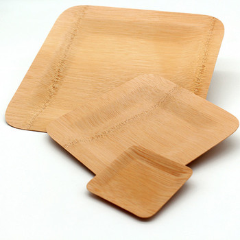 Wholesale disposable bamboo plates square compostable plate