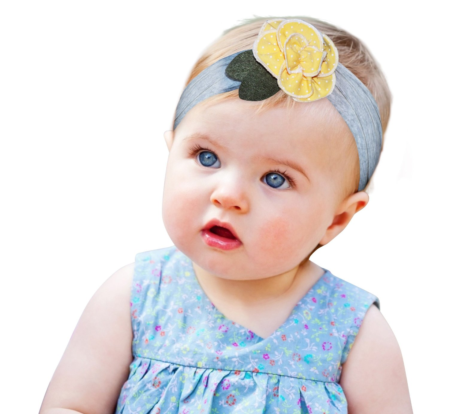 Get Quotations · Flower Baby and Newborn Girls Headband Girl s Fashion Soft  Headbands Super Soft and Stretchy Headbands for 3db3e9adde7