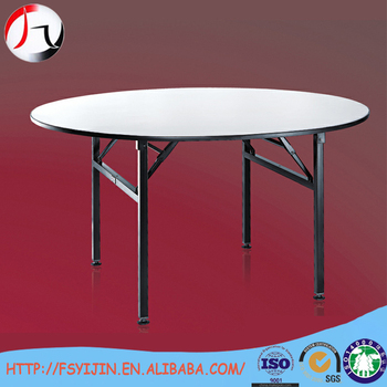 China Factory Sale Modern 6 Feet Dining Round Folding Banquet Table