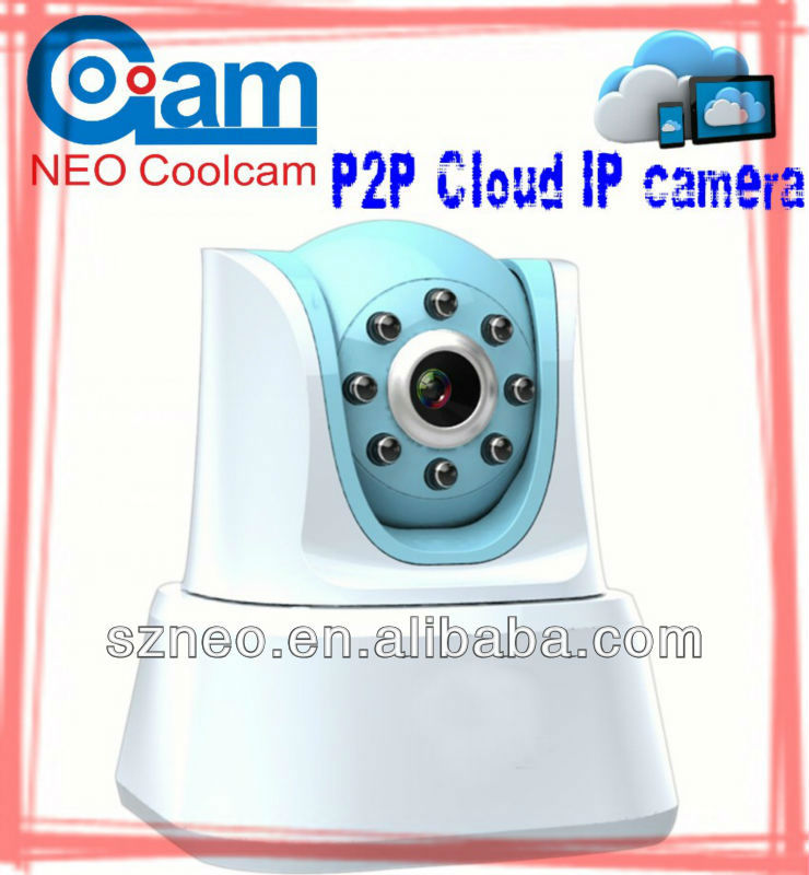 Cloud HD 720P H.264 plug and play ip camera with pan tilt and two ways audio