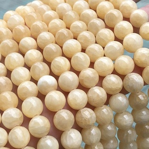 jewels jade stone beads beige color China supplier