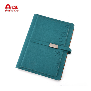 A5 A4 2019 embossed High Class Customizable Leather Cover Ring Binder Diary
