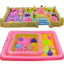 China Educational Trendy toys popular soft smart play sand supplier 3D funny magic sand for kids