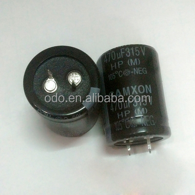 Aluminum electrolytic Capacitor 470UF 315V with snap in type ,Low impedance, High Ripple Current
