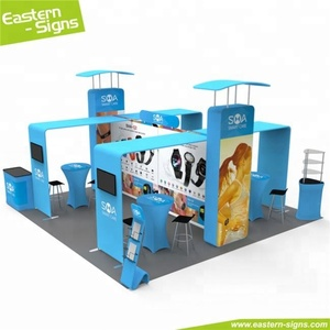 New design polyester fair easily carry quick install craft booth display