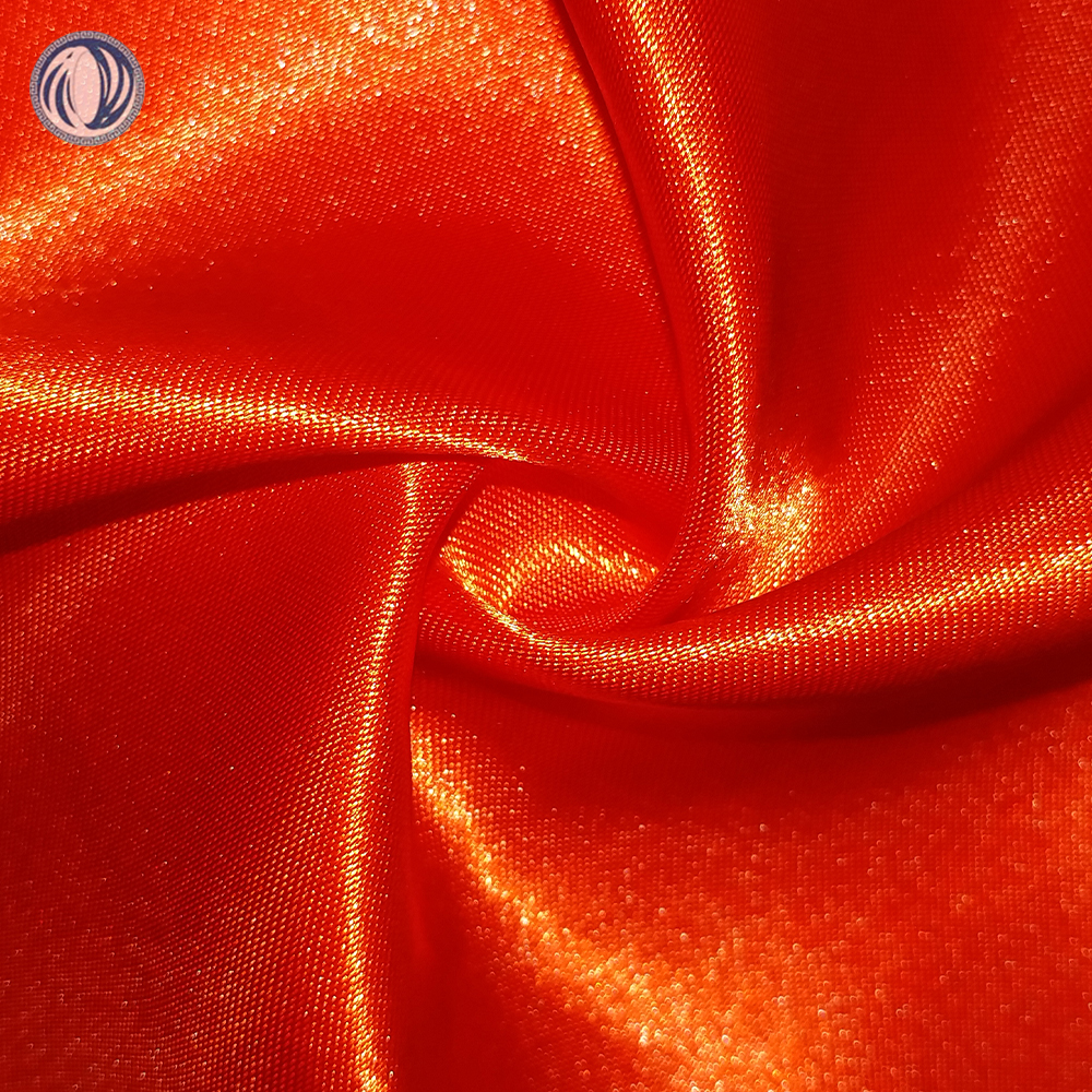 Wujiang factory quick delivery 100% poly non twist satin fabric for saree