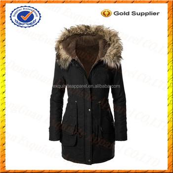 Custom Ladies Winter Coat Womens Hooded Warm Winter Coats Faux Fur Lined Military Winter Parkas Buy Military Winter Parkas Children Winter