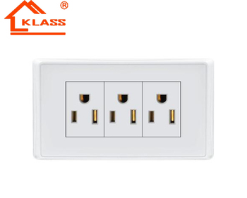 Us Canada Wall Socket 3 Gang America Electrical Outlet Plug Socket ...