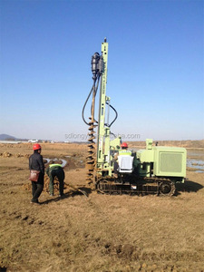 China best selling hydraulic ground screw drilling machine MZ385Y for solar pile installation