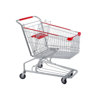 Cheap price supermarket shopping trolley cart