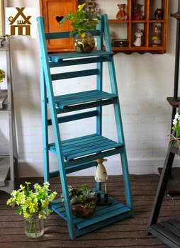 luar ruangan kayu taman bunga shelf rak untuk dekorasi