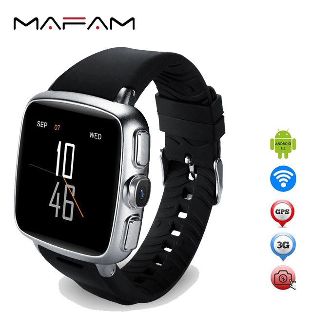 MAFAM MF22 Smart Watch Phone 2018 <strong>SIM</strong> MTK6572 Dual Core 1.2GHz Android 5.1 GPS WIFI 3G Heart Rate Camera Cell Phone Watch