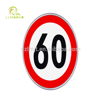 High quality aluminum board highway solar speed limit sign