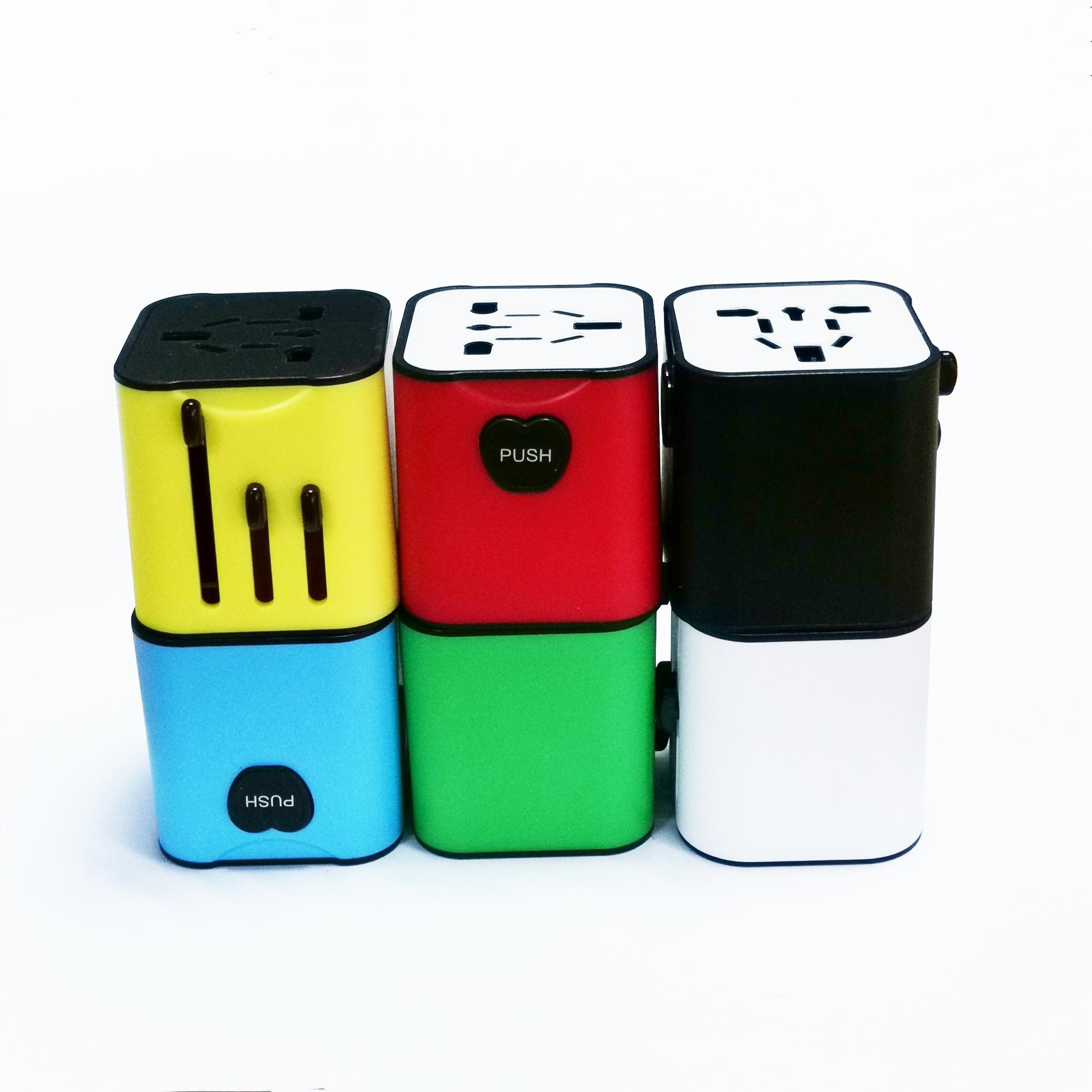 Lightening LOGO 3.1A Travel Adapter with 2 USB Port for Worldwide Use/ World Travel Power Adaptor/ Thailand Travel Plug Adapter