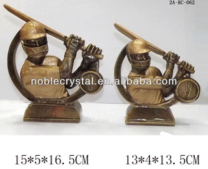 cheap custom resin cricket trophy
