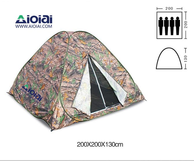 AIOIAI Portable Pop Up Tent camouflage Maple leaves for Camping and Travelling