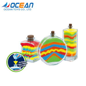 Creative age 5+ kids DIY glass sand art bottles with less mess funnel