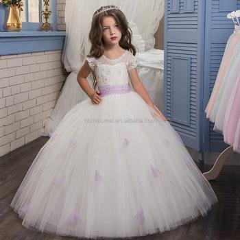 44b1dabadc7 Lace Tulle Flower Girls Dresses For Wedding Little Train Puffy Princess  Dresses girl first communion dress