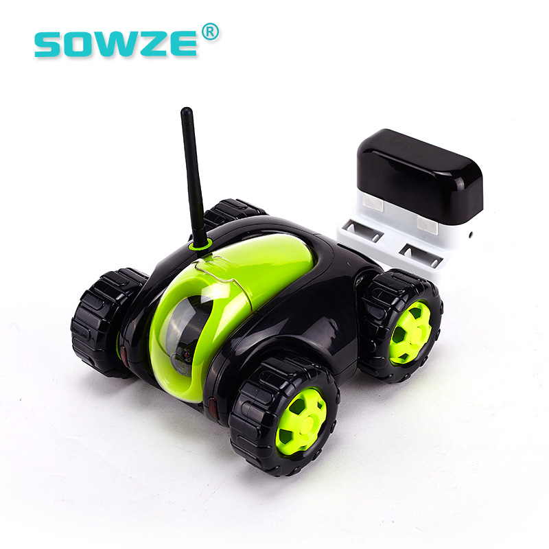 720p Wifi Removable Wireless Night Vision Rc Spy Car Hidden Robot Tank Toy Ip Camera