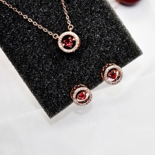 Cherry AAA + 지르코늄 산화 Plating Alloy Jewelry Set 대 한 Women YSXL072