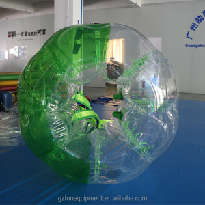 Excellent quality 0.7mmTPU half colored Inflatable Bubble Ball Inflatable Bumper Ball Body Bumper Ball For Sale