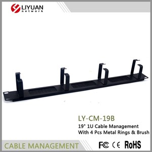 "LY-CM-19B Factory Price Cable Management 1u 19"" Brush Panel with Brush"