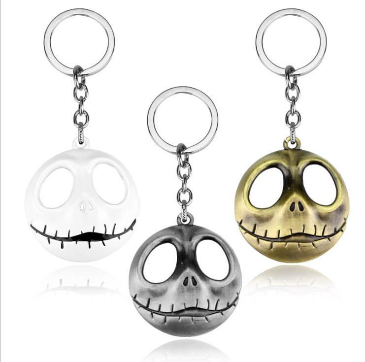 Promotional giveaways The Nightmare Before Christmas pumpkin skull cute anime metal key chain ring