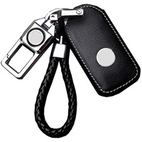 Fashion Real Cowhide Leather Car Key Pouch Unisex Zipper Car Key Case For VW And Other Car Brands