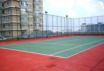 Acrylic paint for badminton court tennis surfaces court for Sport court paint