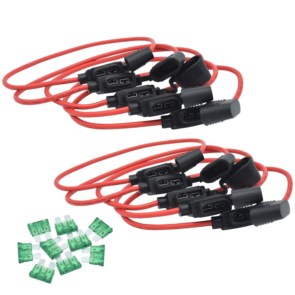 Cheap 12v Inline Fuse Holder Find Deals On Wire Harness Cover Get Quotations Joofn 12awg Wiring Atc Ato 30amp Blade Automotive