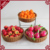 3 tier round handcraft rattan baskets for supermarket display stand with wheels