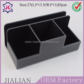Delightful PU Leather Desk Stationery Accessory Organizer Storage Box, Pen/Pencil  ,Cell Phone,