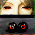 Glass eyes for doll BJD eyes ball 14mm 16MM Black Red Eye ball for BJD Doll