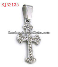 Charming Hot Sale Christian Cross Stainless Steel Pendant With CZ